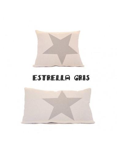 Cojin Estrellas Jacquard gris