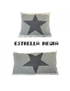 Cojín Estrella Jacquard Negra