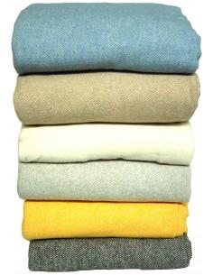 Manta algodón Diagonal seis colores.