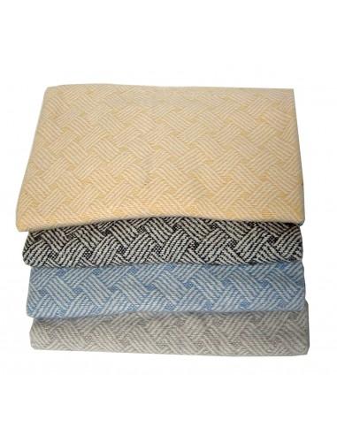 Manta algodón Plaid para sofá Esterilla